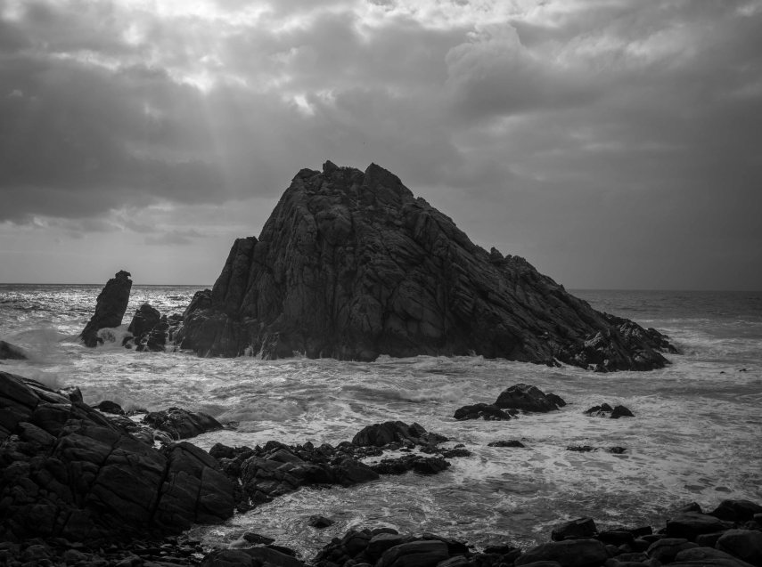Sugarloaf Rock in Western Australia's southwest on a stormy afternoon. Picture: Chris Mannolini