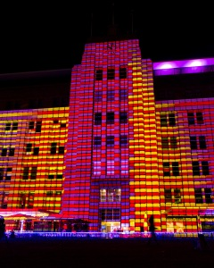 The MCA building at Circular Quay provides a highlight of the Sydney Vivid festival. Picture: Chris Mannolini