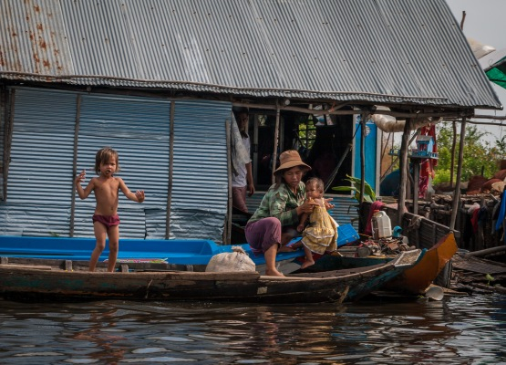 A village along the banks of Sangkae river in northwest Cambodia. Picture: Chris Mannolini