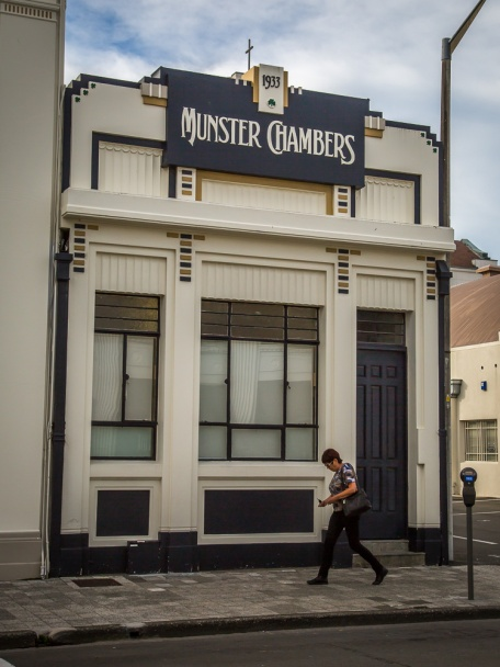 Munster Chambers, built in 1933, in Napier, New Zealand.
