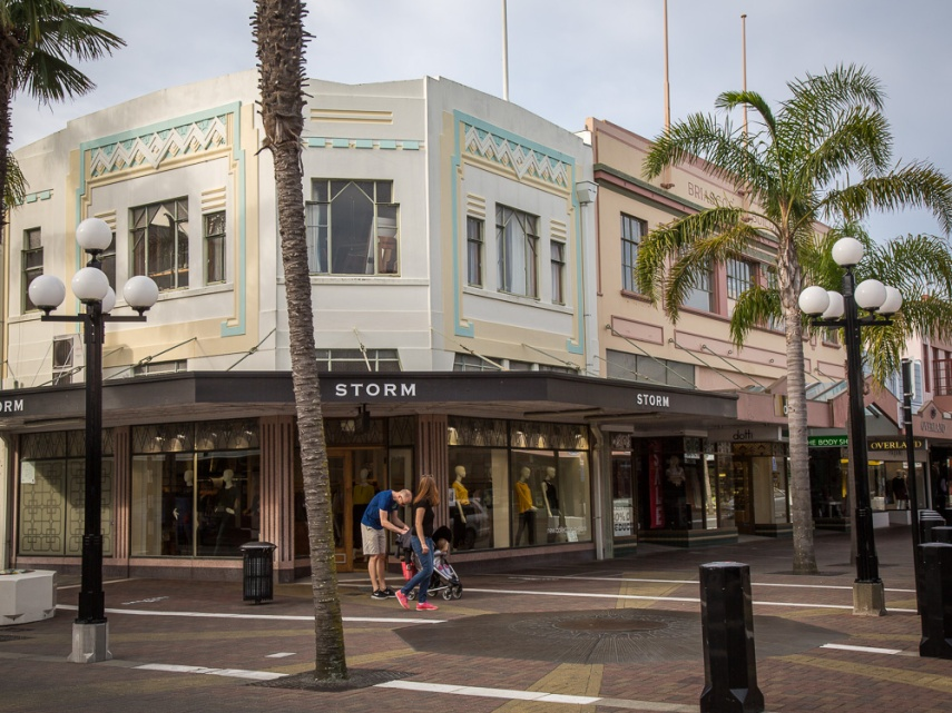 Art Deco shops at every turn in Napier, New Zealand. Picture: Chris Mannolini.