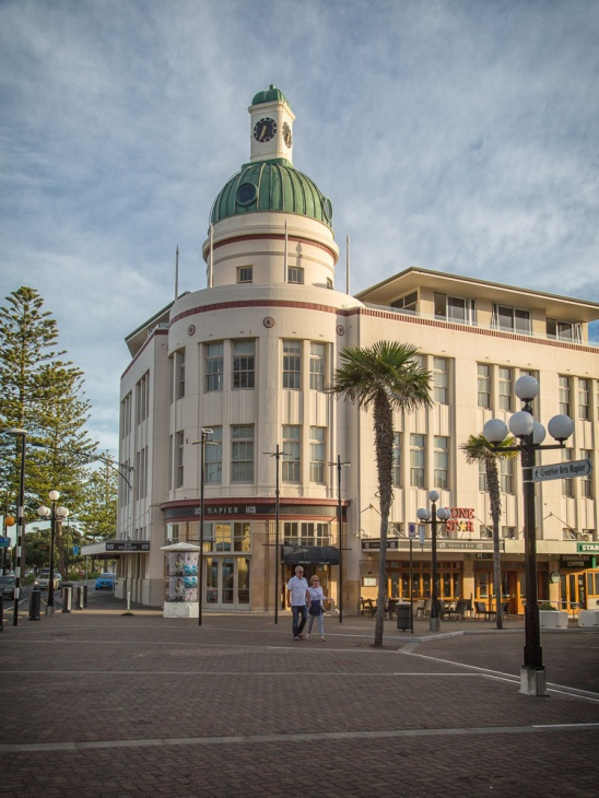 The T&G Building on the waterfront in central Napier, New Zealand. Picture: Chris Mannolini.
