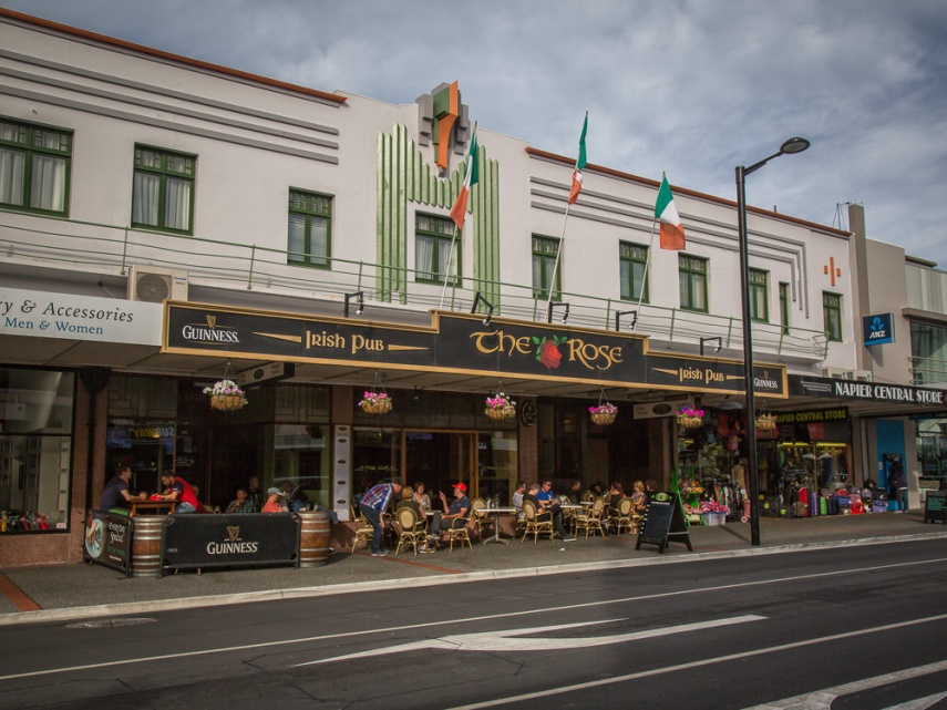 The Rose Irish pub, part of the Masonic Hotel complex in Napier, New Zealand. Picture: Chris Mannolini.