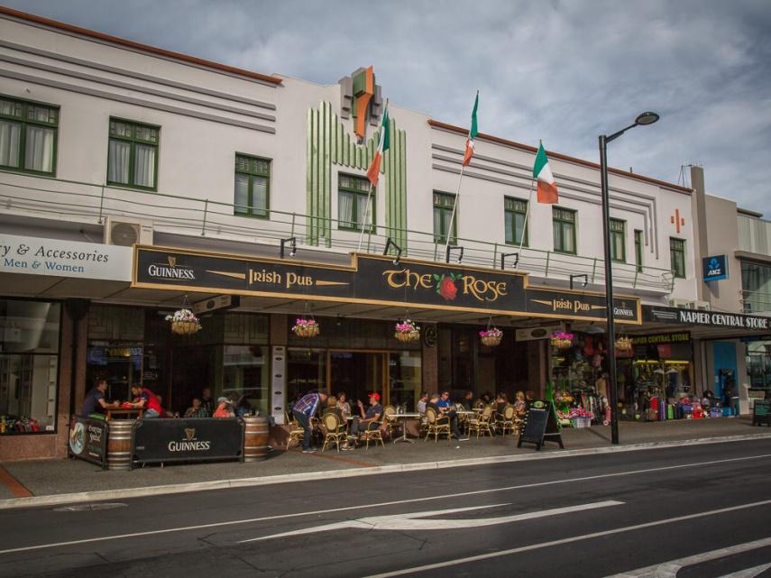 The Rose Irish pub, part of the Masonic Hotel complex in Napier, New Zealand. Picture: Chris Mannolini.