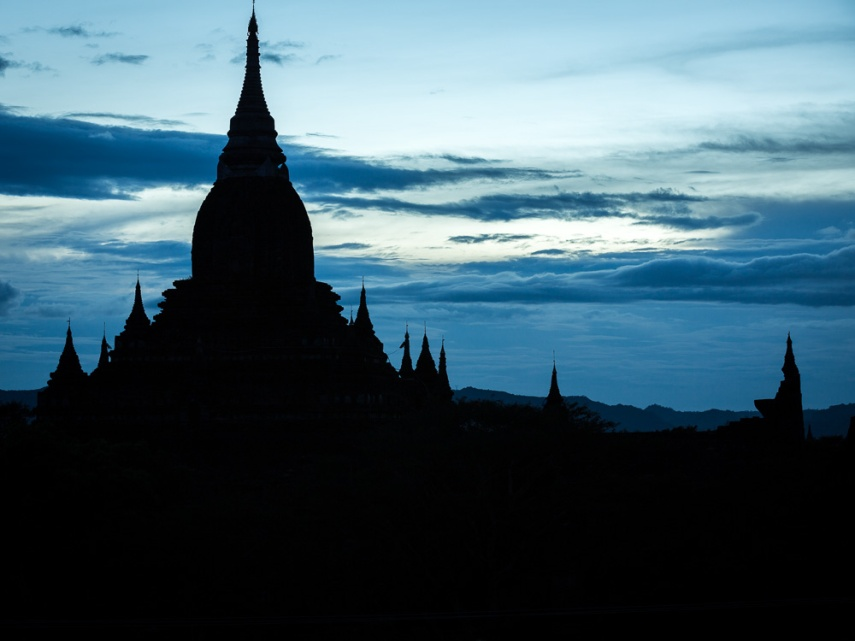Bagan pagoda silhouette in Myanmar. Picture: Chris Mannolini.