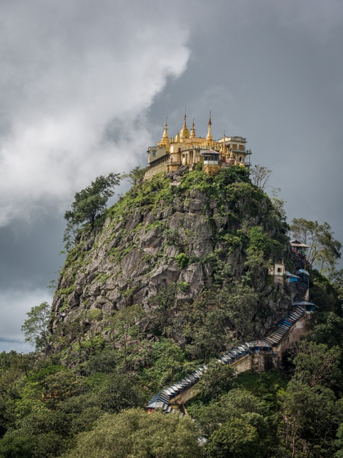 Mt Popa and temple, 5okm from Bagan, Myanmar. Picture: Chris Mannolini.