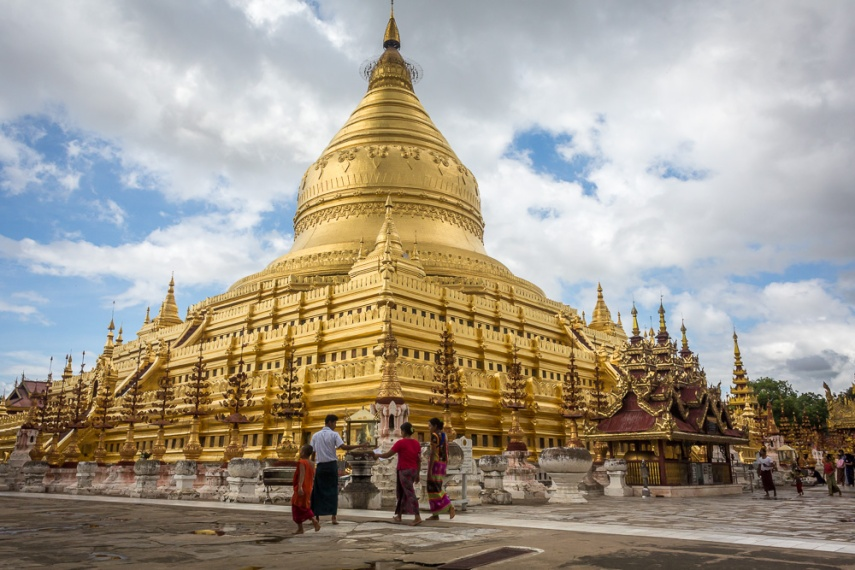 Shwezigon pagoda in Bagan, Myanmar. Picture: Chris Mannolini