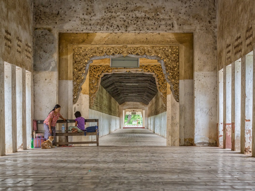 The corridor leading to Shwezigon pagoda, Bagan, Myanmar. Picture: Chris Mannolini.